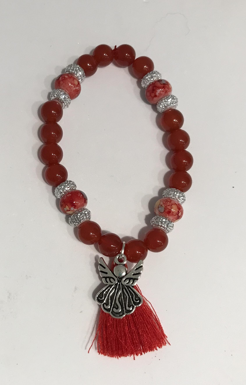 Carnilian Bead Bracelet