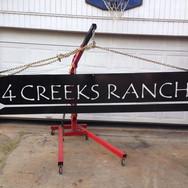Large metal ranch sign