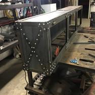 Custom metal desk