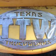 Metal logo sign