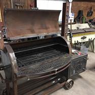 Custom built BBQ pit