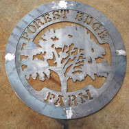 Metal sign for farm
