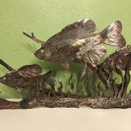 Custom metal fish art