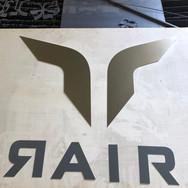 Custom made metal business sign