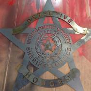 Custom metal police detective sign