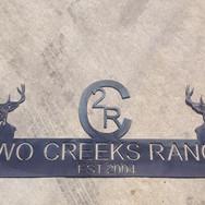 Custom metal ranch sign