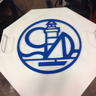 Custom metal sign blue