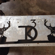Personalized metal sign