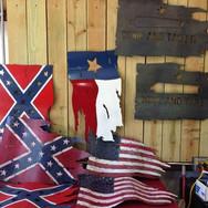Flags metal wall art
