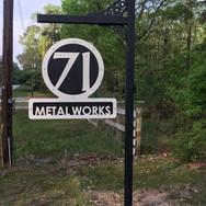 Custom metal yard sign