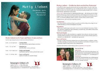 Flyer zum Angebot «Mutig Lieben»