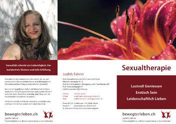 Flyer zum Angebot «Sexualtherapie»