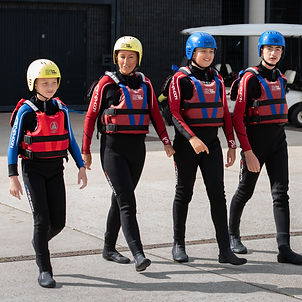 Group going rafting