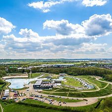 Aerial view of Lee Valley White Water Centre