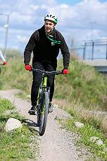 MTB cyclist on the trails
