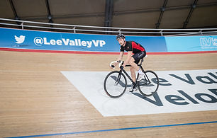 Individual cycling the velodrome track