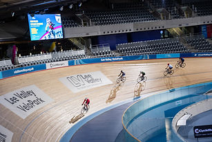 Track cycling in the velodrome