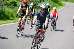 Group of road cyclists