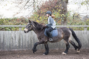 girl on horse with instructor