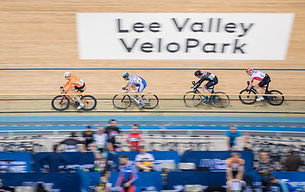 Group of track cylists on the track