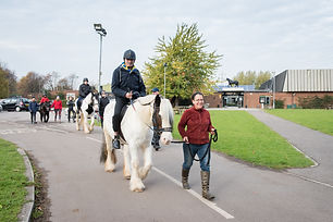 disabled man on horse