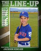 Magazine Cover.  Standard Flat Style.  Legends Sports