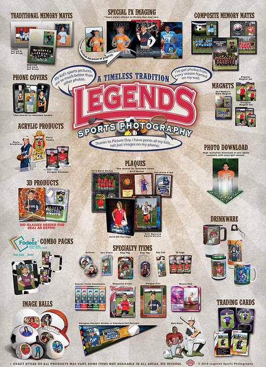 Legends Sports Photography Order Form