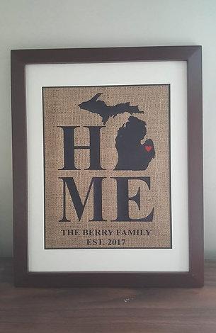 Burlap Frame (Michigan)