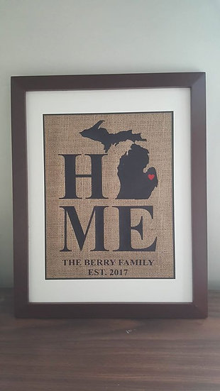 Burlap Frame (Michigan)