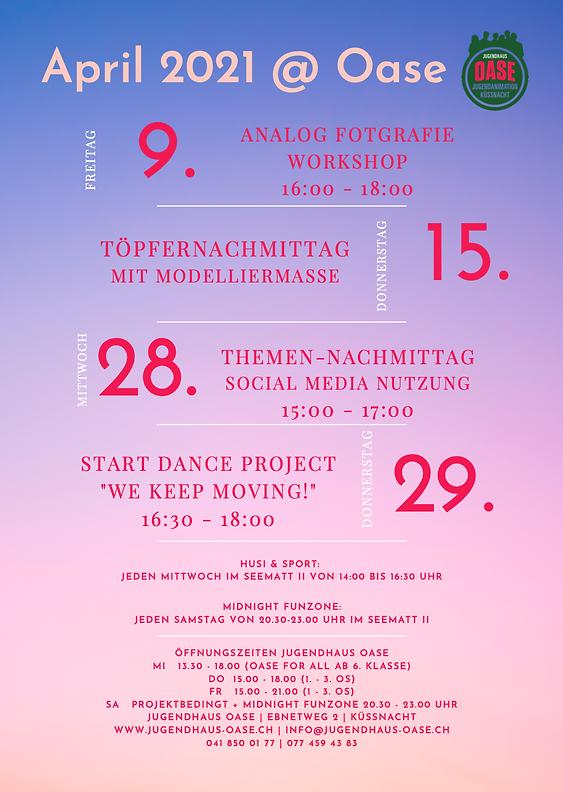 Monatsprogramm April 2021
