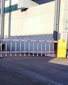 instalação barreiras mecanicas