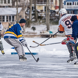 Pond Hockey on New Years Eve