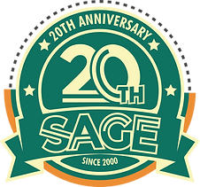SAGE20th_Logo_Emblem_Monochrome_Green-02