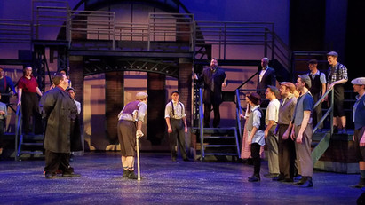 Mike as President Roosevelt in Disney's Newsies