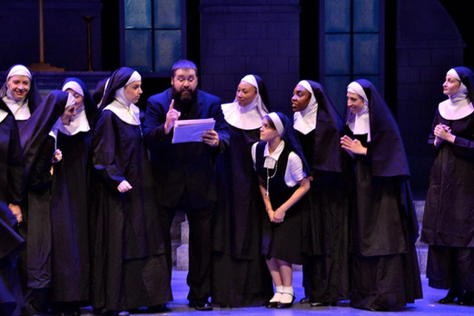Mike as Monsignor O'Hara in the production of Sister Act