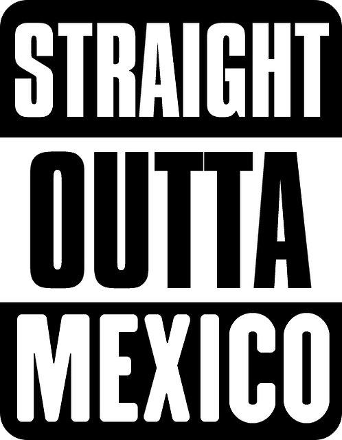 Straight Outta Mexico Small Sticker