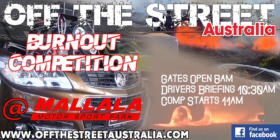COMPETITOR ENTRY / Off The Street Australia Burnout Competition