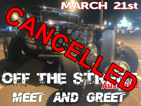 Meet & Greet Cancelled