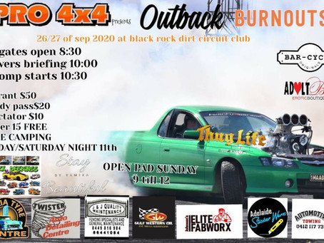 Outback Burnouts 26-09-2020 RESULTS