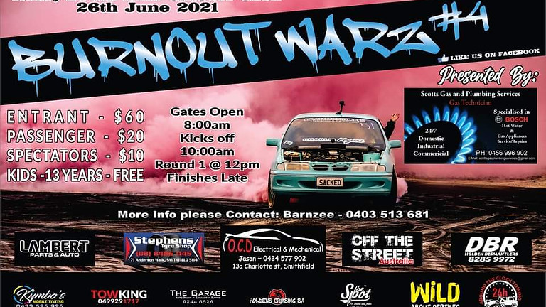COMPETITOR ENTRY + ENTRY SHIRT / Burnout Warz #4