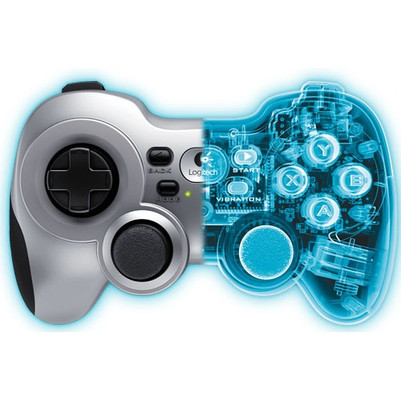 Logitech F710 Nano USB Dual Vibration Feedback Motors PC Gamepad 2.4GHz Wireless D-pad Work with Android TV Extensive game support