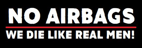 No Air Bags Sticker