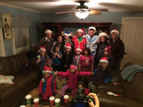 Caroling with the Girl Scouts