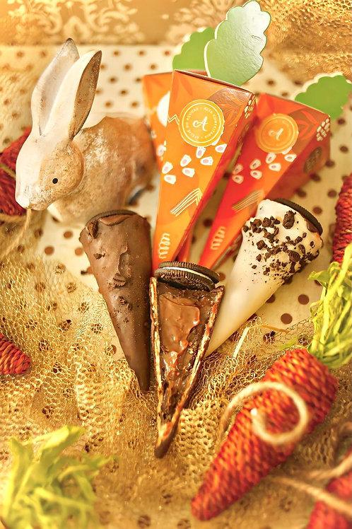 Cone de brigadeiro c/chocolate