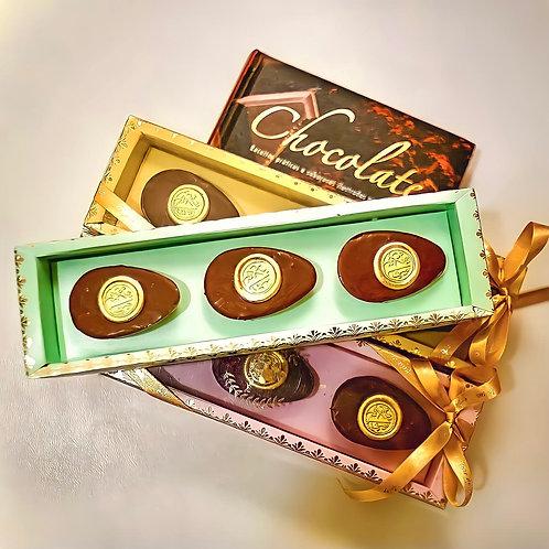 Caixa trio de chocolates nobres