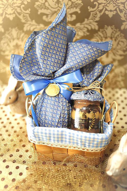 Cestinha Happy Easter Blue