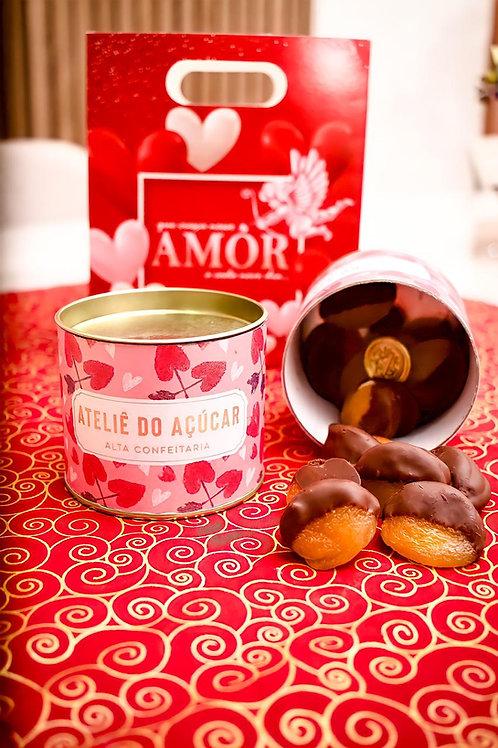 Damascos recheados de Brigadeiro branco ao chocolate