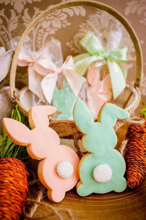 Biscoito coelho decorado