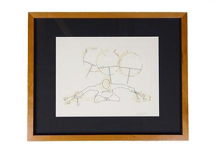 Fine Art Print from Angaiak Fine Art, The Dancer by David John Angaiak, Ink and Coffee Line Drawing