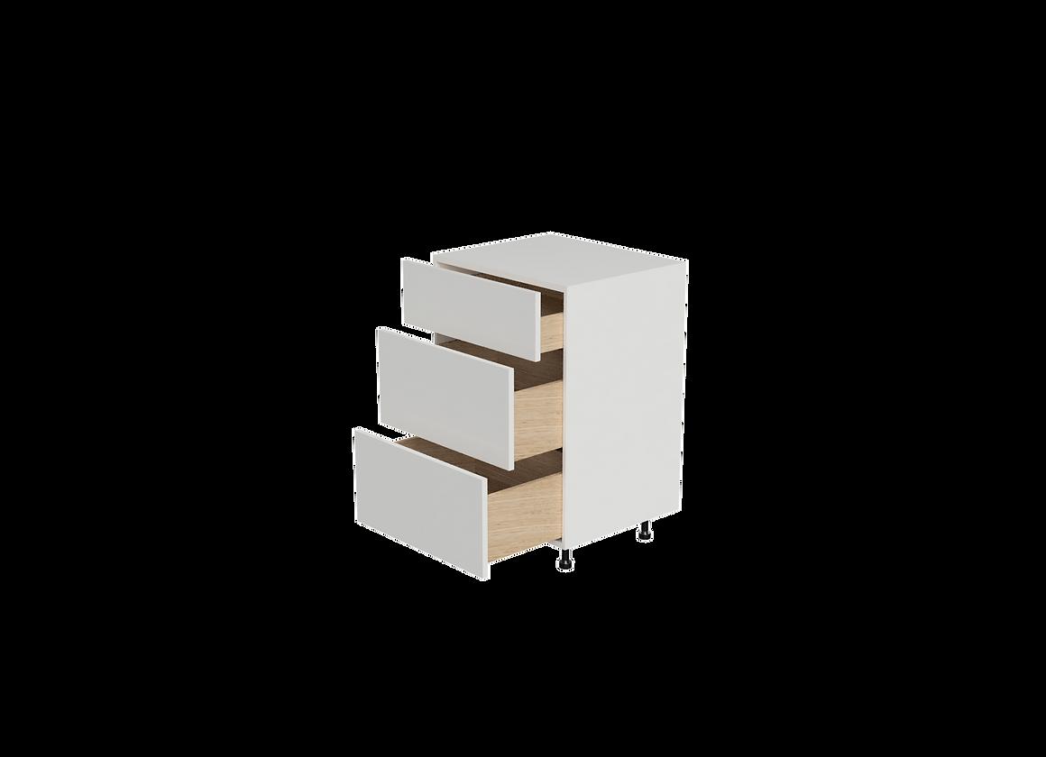 B2436 3 24 Wide X 36 High Drawer Base Cabinet Leumas